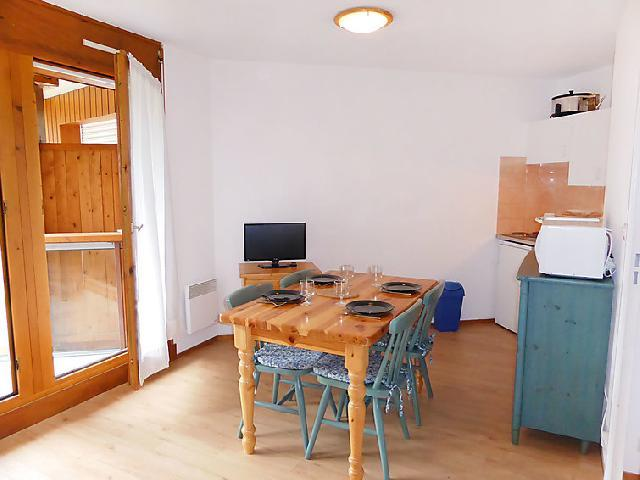 Vakantie in de bergen Appartement 1 kamers 4 personen (14) - L'Enclave I et J - Les Contamines-Montjoie - Open keuken