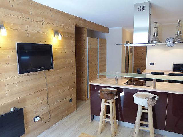 Holiday in mountain resort 1 room apartment 4 people (5) - La Forclaz - Chamonix - Accommodation