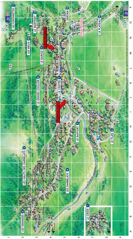 Vacaciones en montaña La Maison Rose - Pralognan-la-Vanoise - Plano