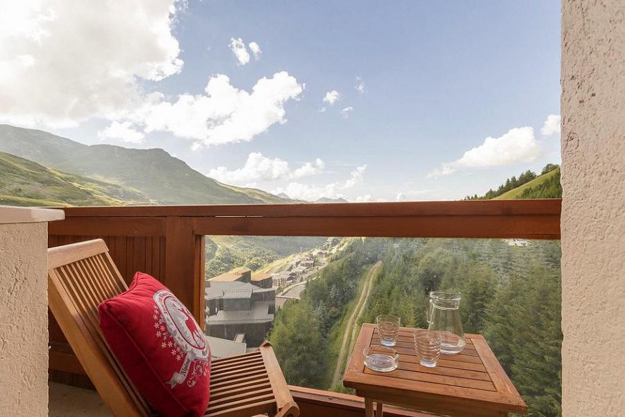 Holiday in mountain resort Studio sleeping corner 4 people (809) - La Résidence Boëdette - Les Menuires - Balcony