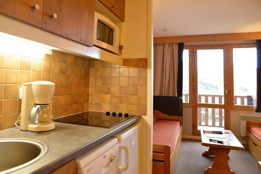 Holiday in mountain resort Studio cabin 4 people (405) - La Résidence Callisto - La Plagne - Kitchenette