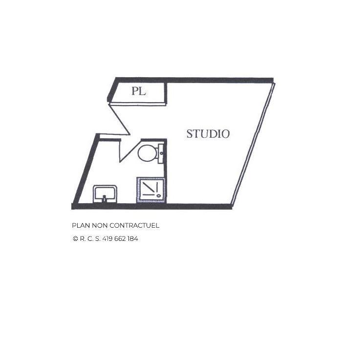 Vacances en montagne Studio 2 personnes (323) - La Résidence Caron - Les Menuires - Plan