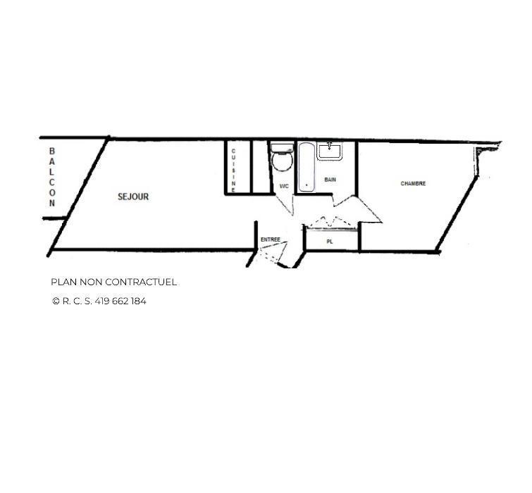 Vacances en montagne Appartement 2 pièces 5 personnes (1013) - La Résidence Caron - Les Menuires