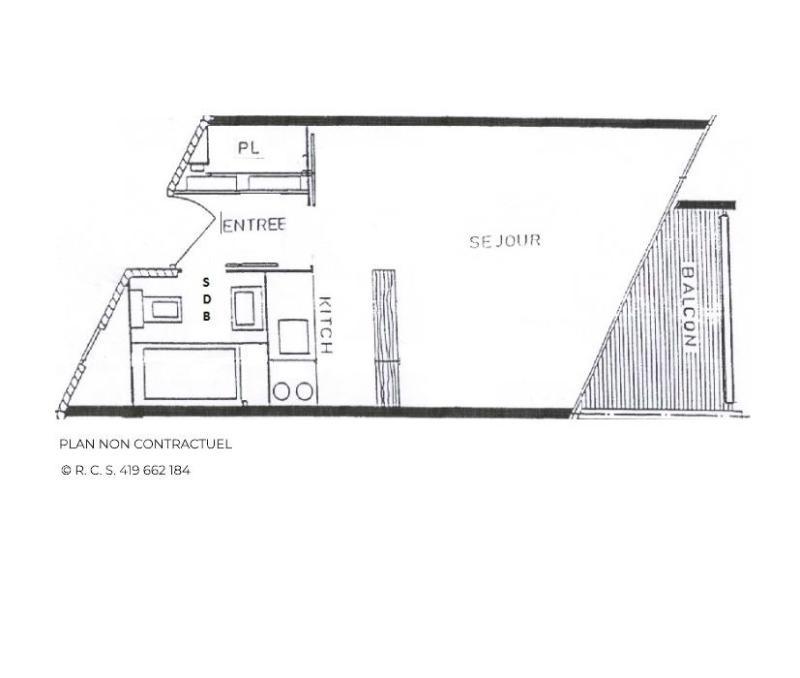 Vacances en montagne Studio 3 personnes (910) - La Résidence Caron - Les Menuires - Plan