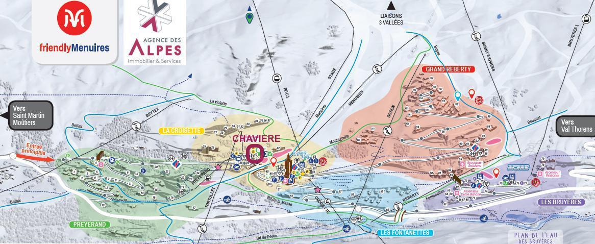 Vacances en montagne La Résidence Chavière - Les Menuires - Plan