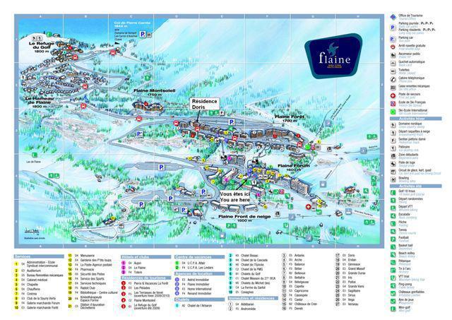 Vacances en montagne La Résidence Doris - Flaine - Plan