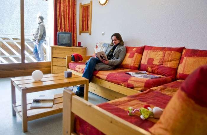 Urlaub in den Bergen La Résidence du Téléphérique - Morzine - Kleines Wohnzimmer