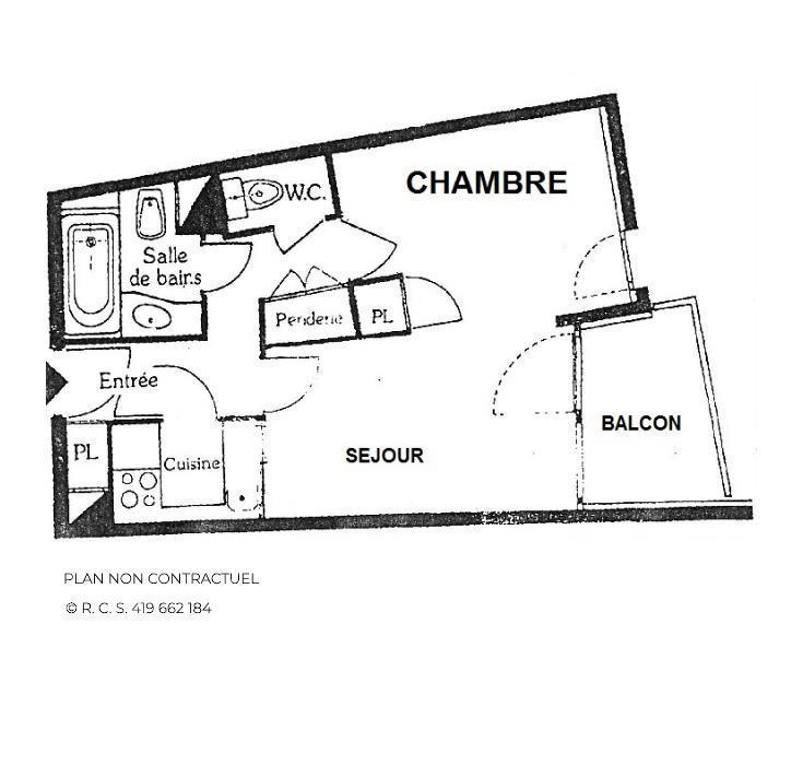 Holiday in mountain resort Studio sleeping corner 4 people (52) - La Résidence Génépi - Les Menuires