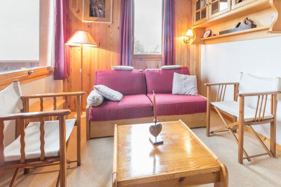 Vakantie in de bergen Appartement duplex 2 kamers 6 personen (21) - La Résidence l'Equerre - Montchavin La Plagne - Woonkamer