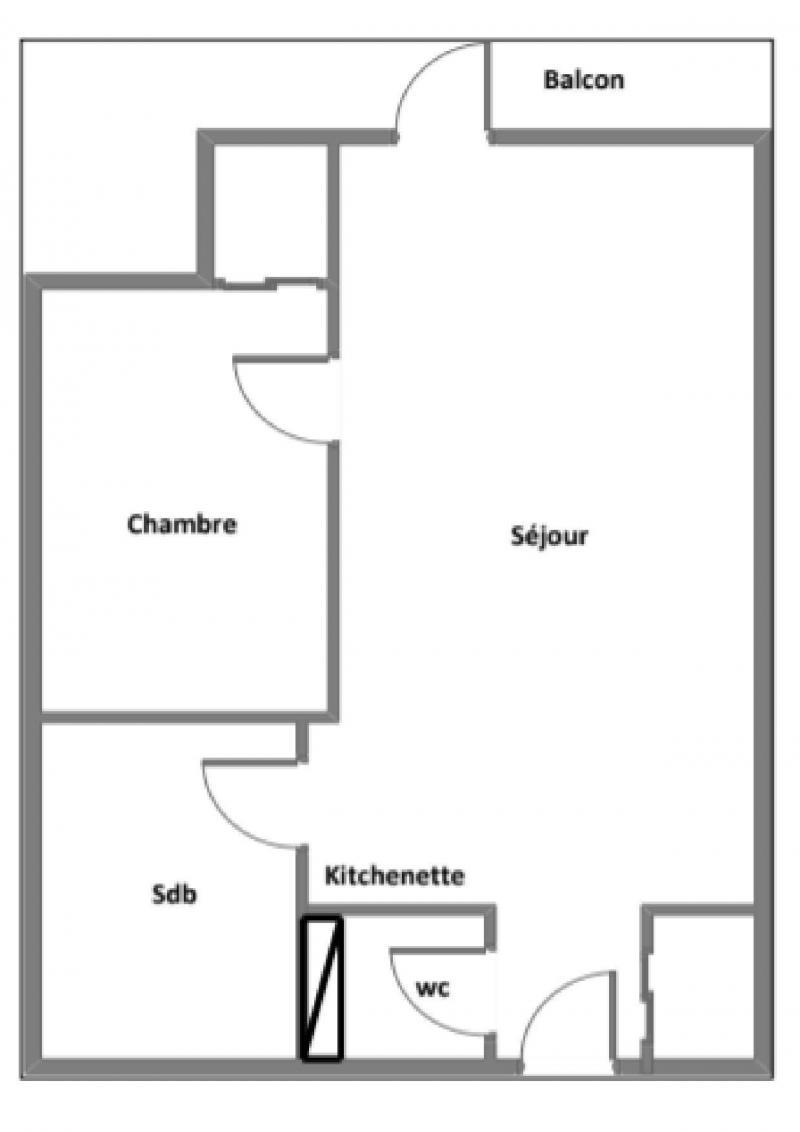Wakacje w górach Apartament 2 pokojowy 4 osób (018) - La Résidence l'Orée des Pistes - Les Menuires