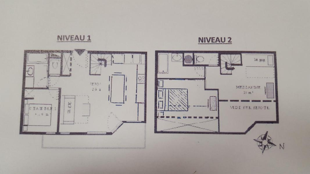 Wakacje w górach Apartament duplex 3 pokojowy 8 osób (429) - La Résidence la Combe - Aussois
