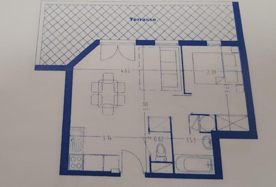 Wakacje w górach Apartament 2 pokojowy 4 osób (501) - La Résidence la Combe - Aussois - Plan