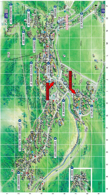 Wakacje w górach La Résidence le Blanchot - Pralognan-la-Vanoise - Plan