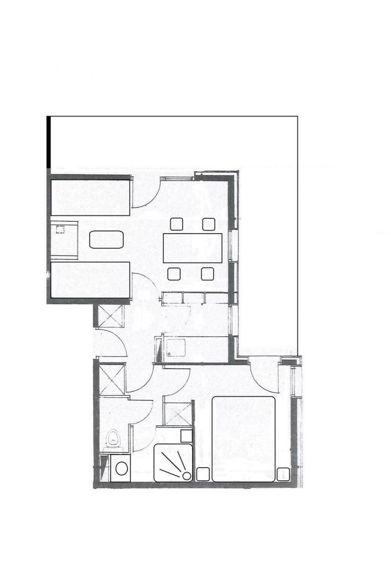 Wakacje w górach Apartament 2 pokojowy 4 osób (G401) - La Résidence le Morel - Valmorel - Plan