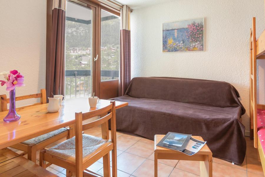 Holiday in mountain resort Studio 2 people (BEN326) - La Résidence les Chalmettes - Montgenèvre - Living room