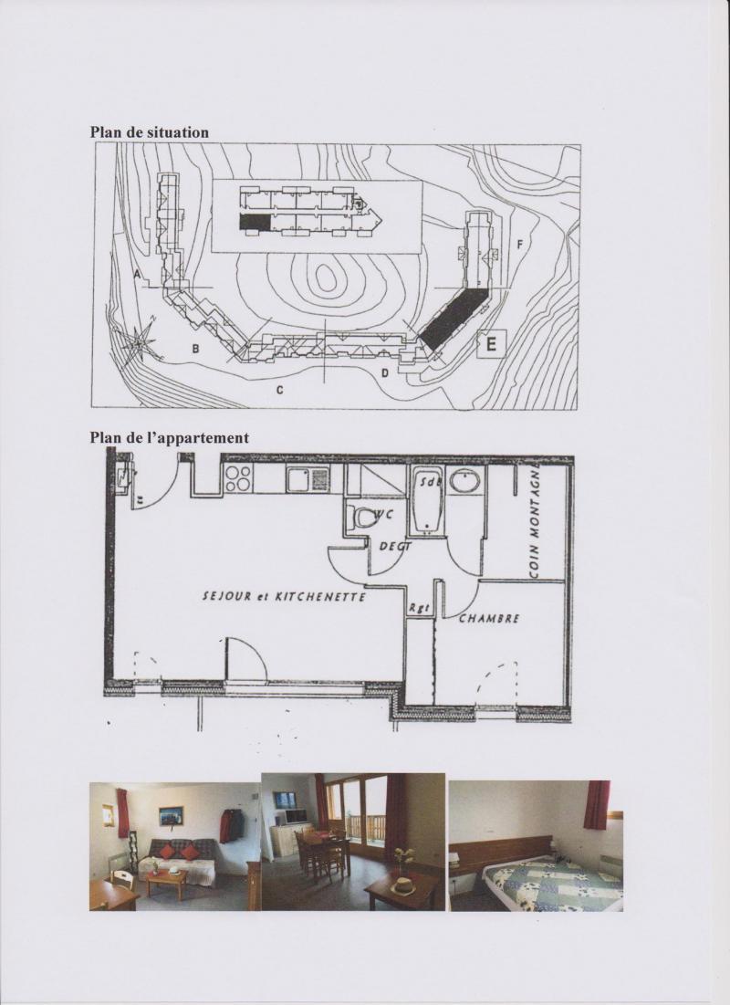 Vacaciones en montaña Apartamento 2 piezas para 6 personas (CE31) - La Résidence les Chaumettes - Superdévoluy - Plano