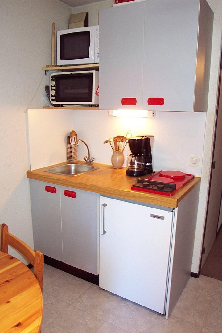 Wakacje w górach Apartament 2 pokojowy 4 osób (0001) - La Résidence Les Colchiques - Vars - Aneks kuchenny