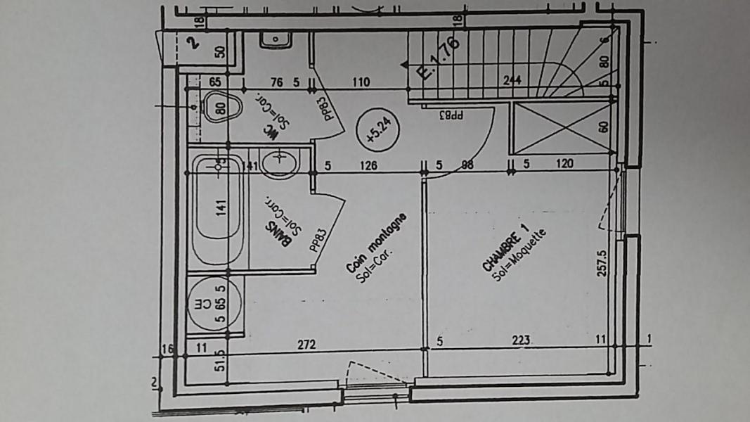 Wakacje w górach Apartament duplex 2 pokojowy z alkową dla 6 osób (E1.76) - La Résidence les Flocons d'Argent - Aussois - Plan