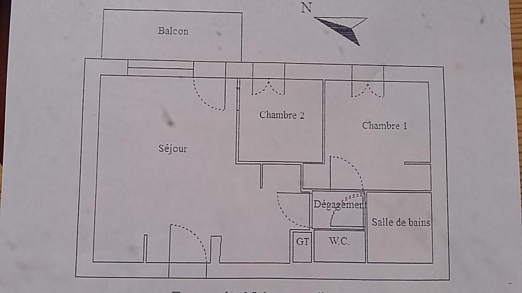 Wakacje w górach Apartament 3 pokojowy 6 osób (E3.86) - La Résidence les Flocons d'Argent - Aussois - Plan