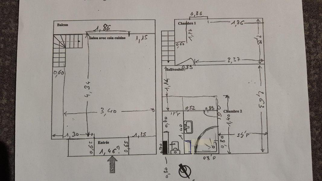 Каникулы в горах Апартаменты дуплекс 2 комнат 6 чел. (D1.69) - La Résidence les Flocons d'Argent - Aussois - план