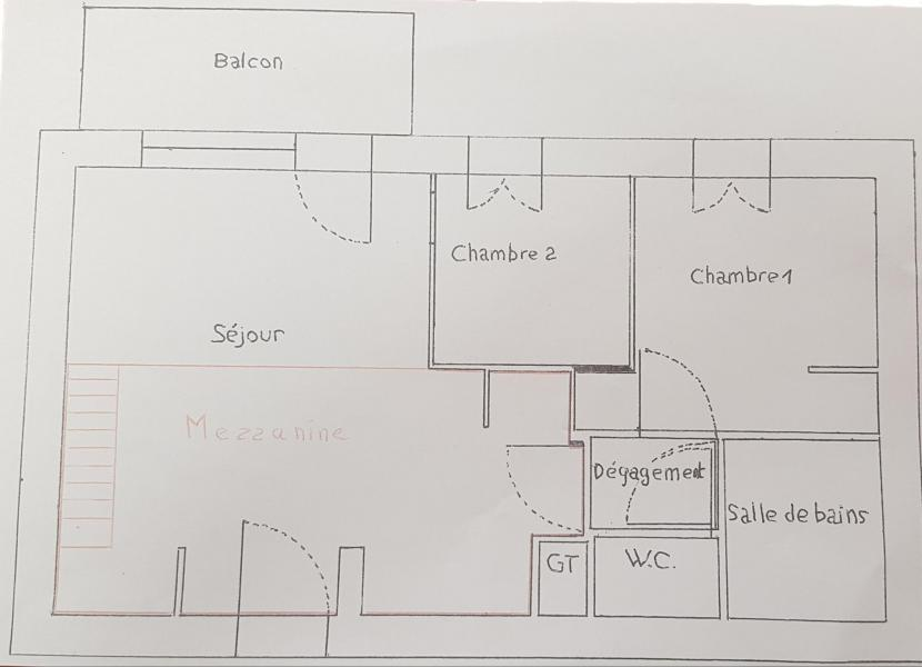 Каникулы в горах Апартаменты 3 комнат 6 чел. (F5.143) - La Résidence les Flocons d'Argent - Aussois - план