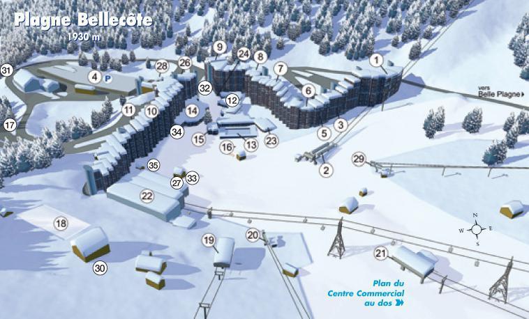Holiday in mountain resort La Résidence les Glaciers - La Plagne