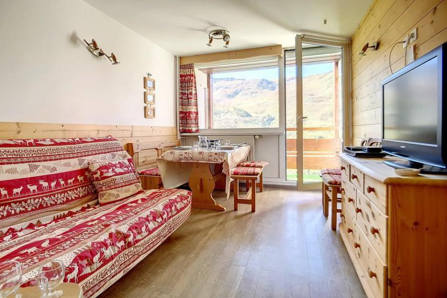 Holiday in mountain resort 2 room duplex apartment 5 people (E18) - La Résidence les Lauzes - Les Menuires - Living room