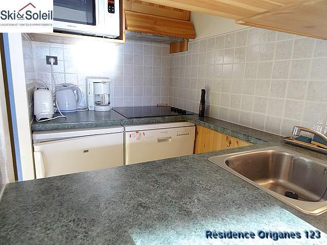 Holiday in mountain resort 3 room apartment cabin 5 people (123) - La Résidence les Origanes - Les Menuires - Kitchenette