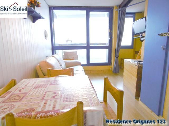 Holiday in mountain resort 3 room apartment cabin 5 people (123) - La Résidence les Origanes - Les Menuires - Living room