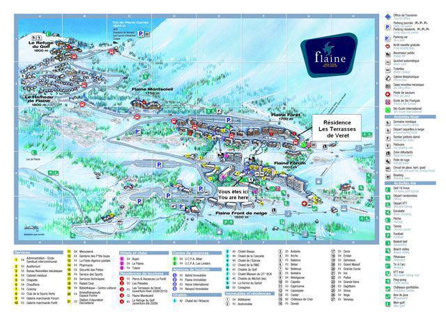 Vacaciones en montaña La Résidence les Terrasses de Véret - Flaine - Plano