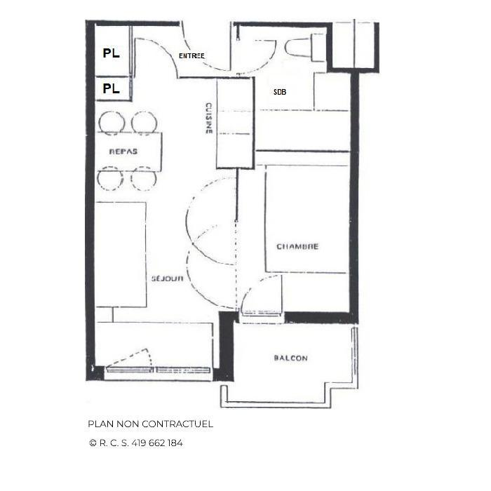 Vacances en montagne Studio cabine 4 personnes (402) - La Résidence Médian - Les Menuires