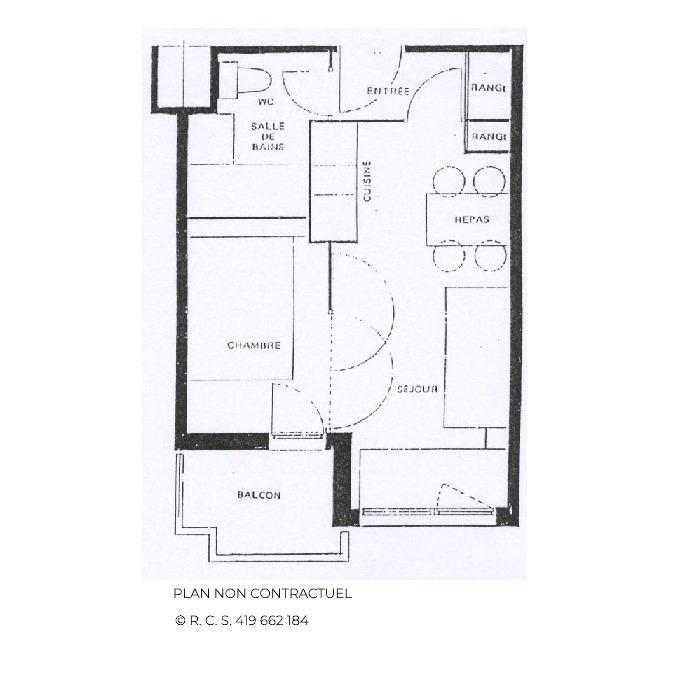 Vacances en montagne Appartement 2 pièces 4 personnes (618) - La Résidence Médian - Les Menuires