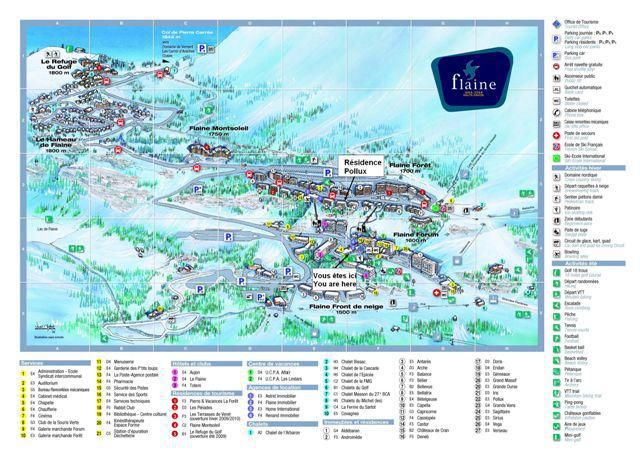 Holiday in mountain resort La Résidence Pollux - Flaine - Plan