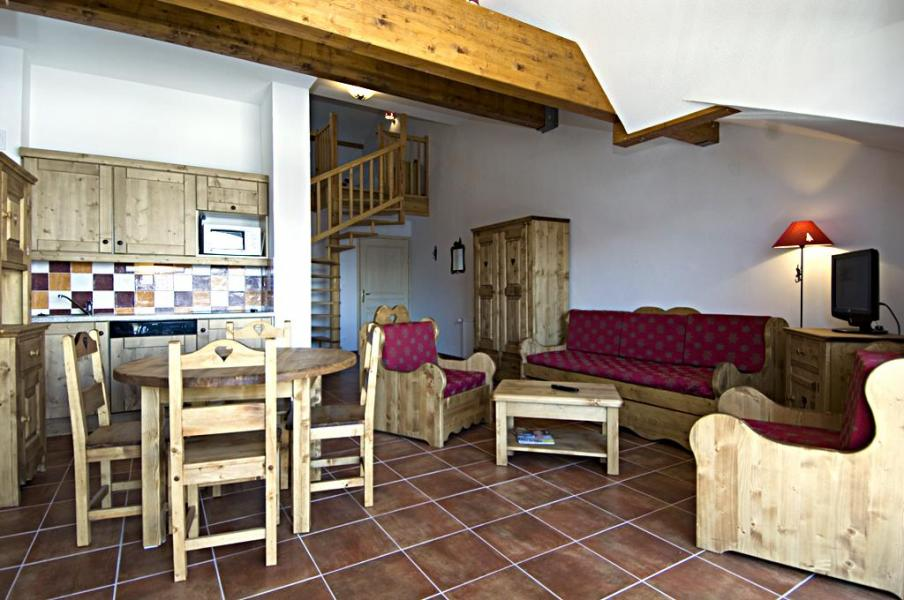 Vakantie in de bergen La Résidence Rochebrune - Orcières Merlette 1850 - Open keuken