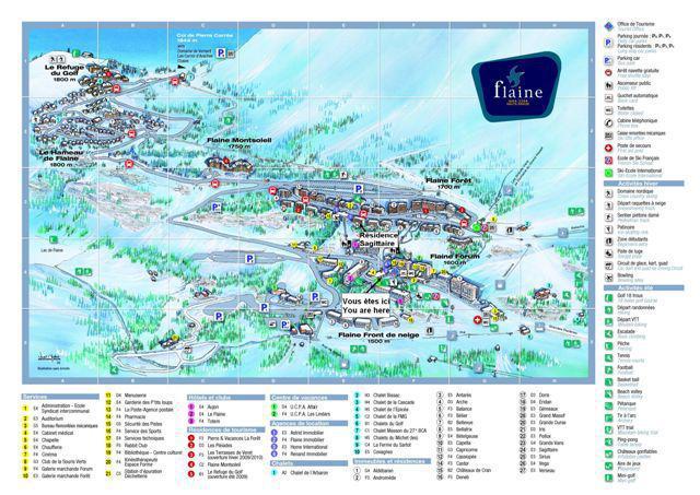 Vacances en montagne La Résidence Sagittaire - Flaine - Plan