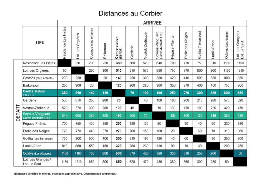Vakantie in de bergen La Résidence Vostok Zodiaque - Le Corbier - Kaart