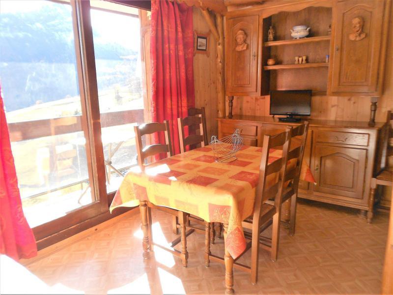 Vakantie in de bergen Studio bergnis 4 personen (1107) - La Résidence Vostok Zodiaque - Le Corbier - Eetkamer