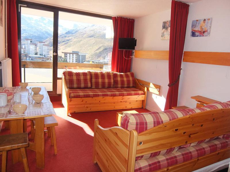 Vakantie in de bergen Appartement 1 kamers 4 personen (10) - Lac du Lou - Chavière - Péclet - Les Menuires - Verblijf