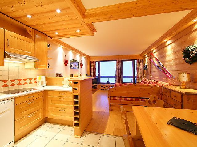 Holiday in mountain resort 3 room apartment 8 people (2) - Le Bec Rouge - Tignes - Dining area