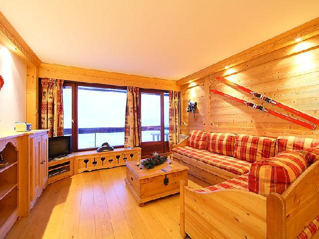 Holiday in mountain resort 3 room apartment 8 people (2) - Le Bec Rouge - Tignes - Living room