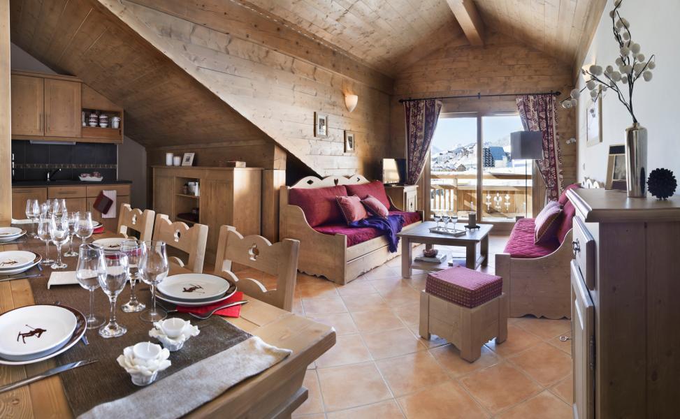 Vakantie in de bergen Le Chalet des Dolines - Montgenèvre - Woonkamer