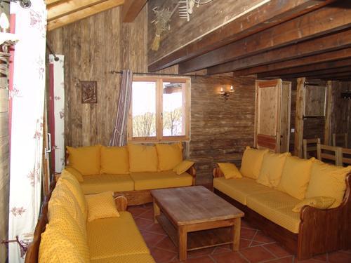 Urlaub in den Bergen 6 Zimmer Maisonettewohnung für 10 Personen - Le Chalet Mimosa - Saint Martin de Belleville - Kleines Wohnzimmer