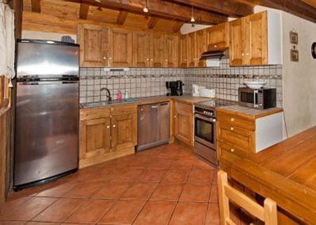Urlaub in den Bergen 6 Zimmer Maisonettewohnung für 10 Personen - Le Chalet Mimosa - Saint Martin de Belleville - Küche