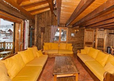 Urlaub in den Bergen 6 Zimmer Maisonettewohnung für 10 Personen - Le Chalet Mimosa - Saint Martin de Belleville - Wohnzimmer