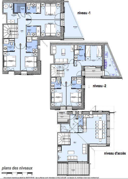 Каникулы в горах Шале триплекс 8 комнат 16 чел. (Litote) - Le Hameau de Caseblanche - Saint Martin de Belleville - план