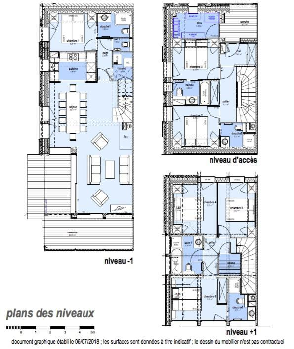 Каникулы в горах Шале триплекс 7 комнат 12 чел. (Tawny) - Le Hameau de Caseblanche - Saint Martin de Belleville - план