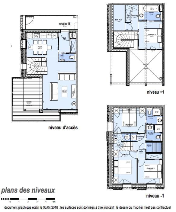Каникулы в горах Шале триплекс 5 комнат 8 чел. (Pomme de Pin) - Le Hameau de Caseblanche - Saint Martin de Belleville - план