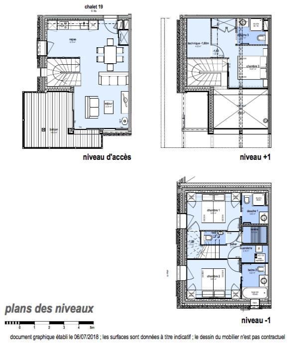Каникулы в горах Шале триплекс 4 комнат 6 чел. (Carcosa) - Le Hameau de Caseblanche - Saint Martin de Belleville - план