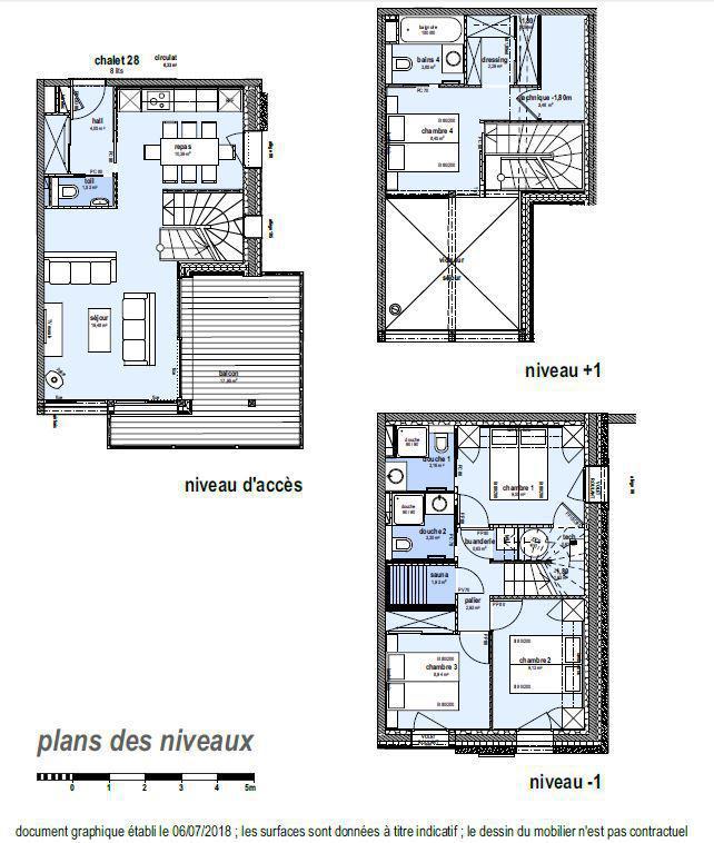 Каникулы в горах Шале триплекс 5 комнат 8 чел. (Winterfold) - Le Hameau de Caseblanche - Saint Martin de Belleville - план