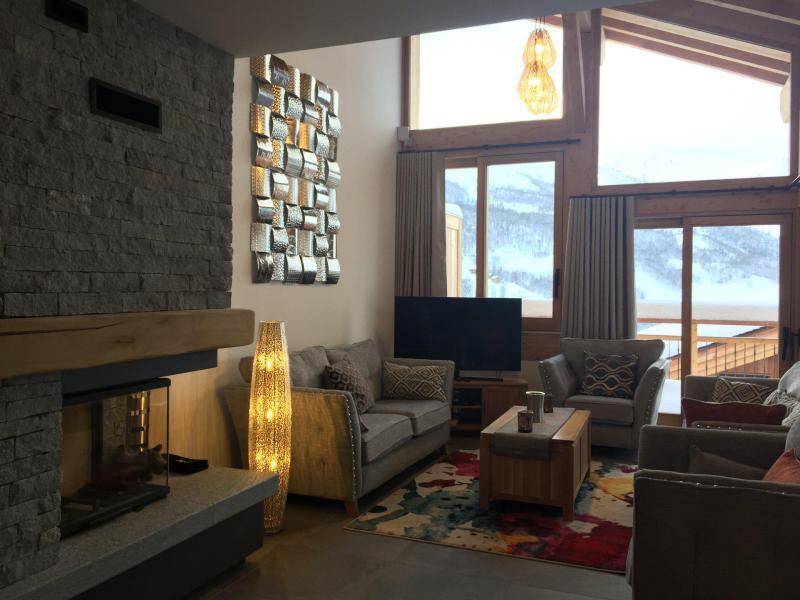 Каникулы в горах Шале триплекс 7 комнат 12 чел. (Tawny) - Le Hameau de Caseblanche - Saint Martin de Belleville - Камин